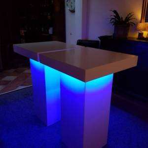 Sta tafel wit LED foto 3